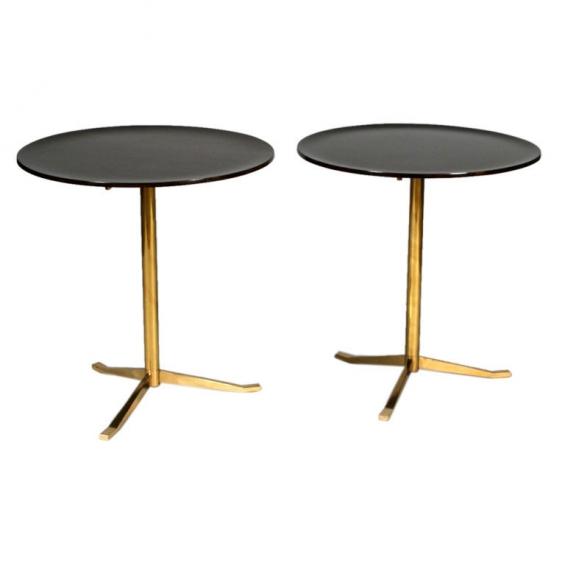 Pair Of Side Tables Attributed To Osvaldo Borsani